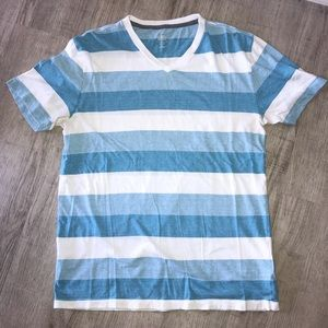 Blue and white striped T-shirt